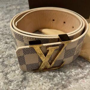 Louis Vuitton checkered belt
